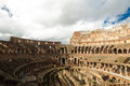 Amphitheatre of the colosseum or coliseum inside view Royalty Free Stock Images