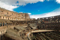 Amphitheatre of the colosseum or coliseum inside view Royalty Free Stock Image