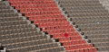 Amphitheatre large with brown and red seats Royalty Free Stock Photo