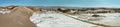 Amphitheatre in Moon Valley, Atacama Desert, Chile Royalty Free Stock Photo