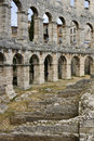 Amphitheatre in Pula, Croatia Royalty Free Stock Photo