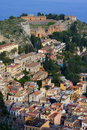 Amphitheatre in Sicilië Stock Afbeelding