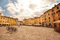 Amphitheatre square in lucca italy piazza dell anfiteatro from the city of Royalty Free Stock Image