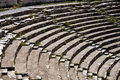 Amphitheatre-weeds Royalty Free Stock Photo