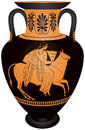 Amphora Europa and the bull Royalty Free Stock Photo
