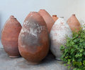 Amphora old amphoraе in museum bakhchisaray crimea ukraine Royalty Free Stock Photography