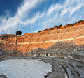 Ampitheater in ephesus empty amphitheater near celcuk turkey Stock Image