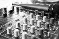 Amplifier close up and microphone Stock Image