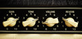 Amplifier panel retro guitar control close up Royalty Free Stock Photo