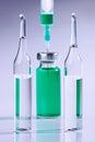 Ampoule and syringe macro Royalty Free Stock Photo