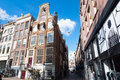 Amsterdam architecture in the city center in amsterdam netherlands april on april Royalty Free Stock Photos