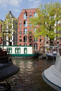 Amsterdam canal city of view in holland netherlands Stock Photo