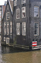 Amsterdam canal houses Stock Photo