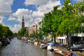 Amsterdam canals Stock Photos