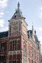 Amsterdam centraal station the clock tower at Stock Images
