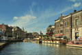 Amsterdam city center view Royalty Free Stock Photo