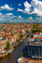 Amsterdam city view from Westerkerk, Holland, Netherlands. Royalty Free Stock Photo