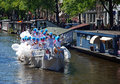 Amsterdam gay pride august canal parade of the netherlands Royalty Free Stock Image