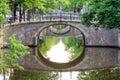 Amsterdam green bridges Royalty Free Stock Photo