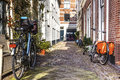 Amsterdam green street life Royalty Free Stock Photo