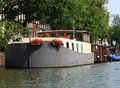 Amsterdam houseboat Stock Photography