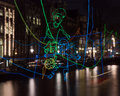 Amsterdam Light Festival 2016-Path crossing Royalty Free Stock Photo