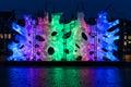 Amsterdam Light Festival 2016 - Rhizome House Royalty Free Stock Photo