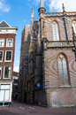 Amsterdam narrow street with 17th century building, Netherlands. Royalty Free Stock Photo