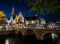 Amsterdam by night Royalty Free Stock Photo