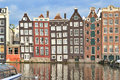 Amsterdam old quarter very beautiful place in the Royalty Free Stock Image