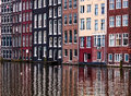 Amsterdam Reflections Royalty Free Stock Photography