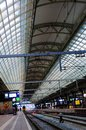 Amsterdam Train Station Interior, Public Transportation, Travel North Europe Royalty Free Stock Photo