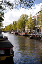 Amsterdam scene in the old town of netherlands Stock Photo