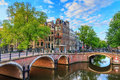 Amsterdam spring canals Royalty Free Stock Photo