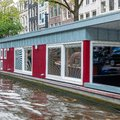 Amsterdam streets and channels Royalty Free Stock Photo