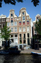 Amsterdam waterside Royaltyfria Bilder