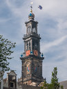 Amsterdam westertoren part of westerkerk netherlands sept bell tower the in the most important protestant church in the city the Stock Photos