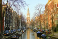 Amsterdam with the Zuiderkerk in the Netherlands Royalty Free Stock Photography