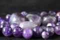 Amulet amethyst stone ready to make handmade jewelry Royalty Free Stock Images