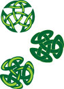 Amulet celtic endless knot green ornament Royalty Free Stock Images