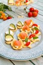 Amuse Bouche with goat cheese Royalty Free Stock Photo