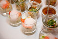 Amuse bouche for a party presented on a table Stock Image