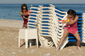 Amusement de plage Photographie stock