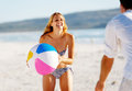 Amusement insousiant de beachball Images stock
