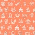 Amusement Park Background Pattern. Vector Royalty Free Stock Photo