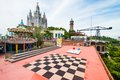 Amusement park barcelona june on mount tibidabo on june in barcelona spain it has an area of m and is the oldest in Stock Photos