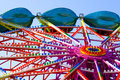 Amusement park carousel Stock Photography