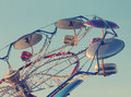 Amusement park fun classic ride with stylized subtle vintage look and feel Stock Photo