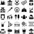 Amusement Park icons Royalty Free Stock Photo