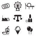 Amusement park icons this image is a vector illustration and can be scaled to any size without loss of resolution Stock Photo